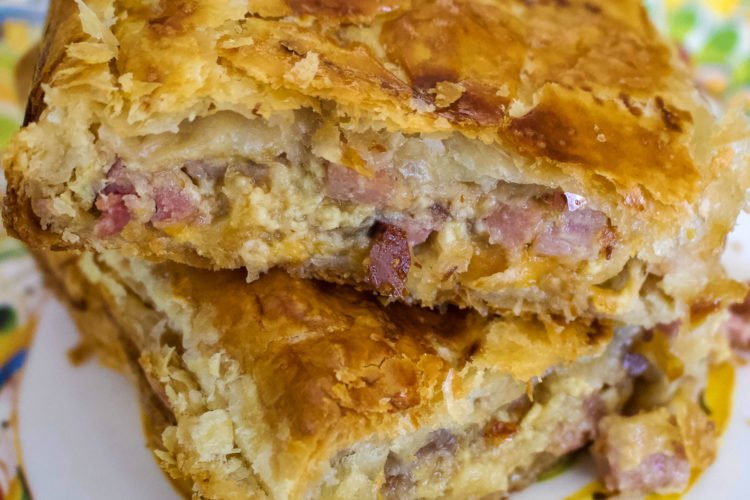 Ham Cheese And Onion Puff Pastry Slab Pie
