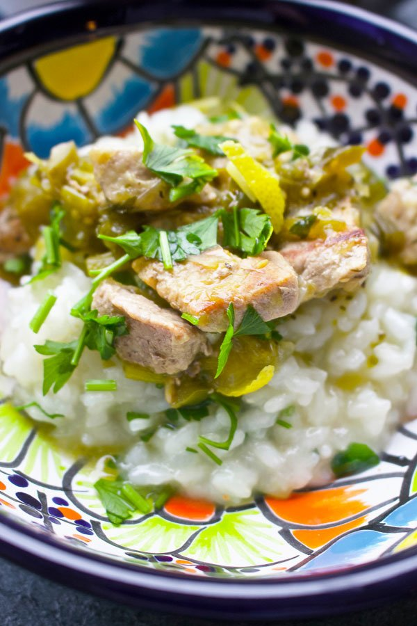 Pork in green sauce1515