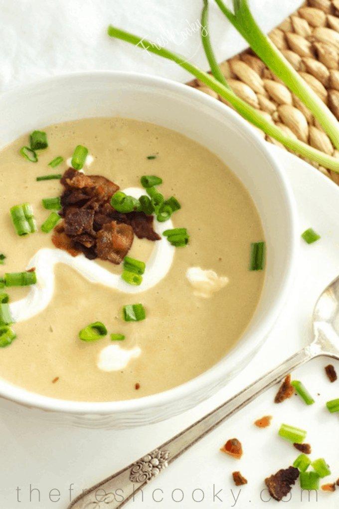 Potato Leek Soup (Instant Pot or Stovetop)