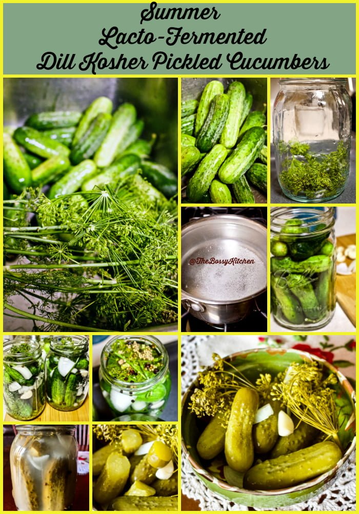 Summer LActo Fermented Dill Kosher Pickled Cucumbers