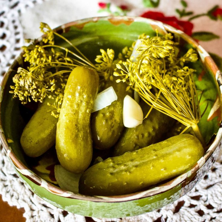 Summer Lacto-Fermented Dill Kosher Pickled Cucumbers