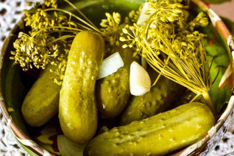 Summer Lacto-Fermented Dill Pickled Cucumbers