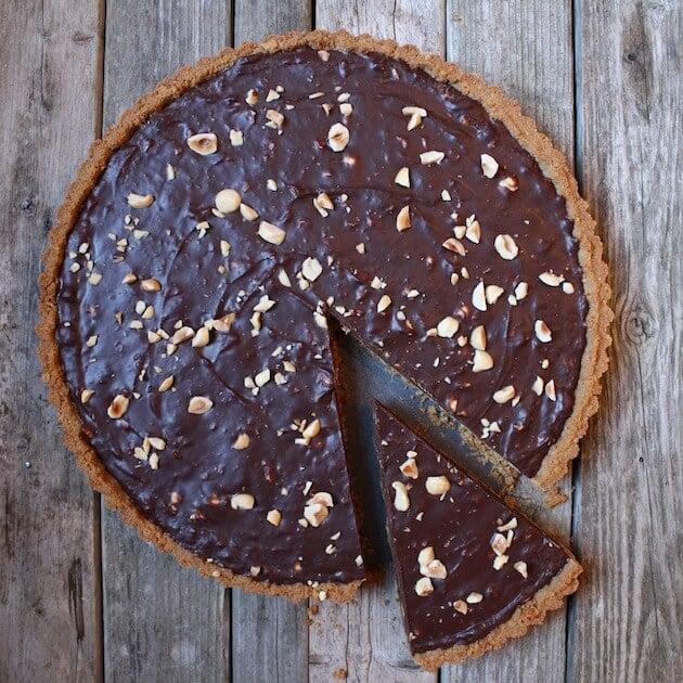Chocolate Hazelnut Tart #SundaySupper