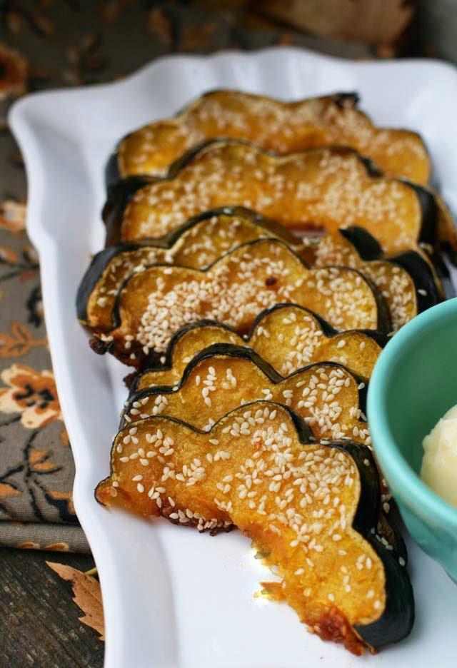 Sesame Glazed Acorn Squash – Cheap Recipe Blog