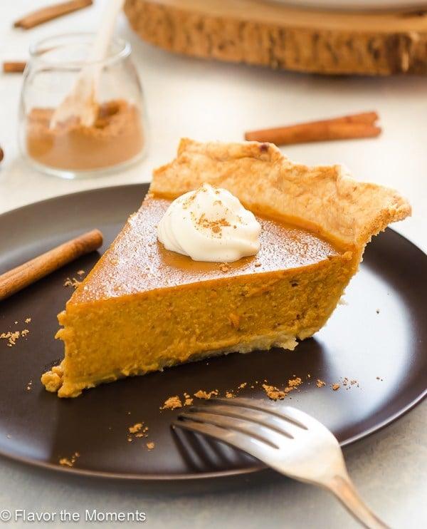 Chai Spiced Pumpkin Pie