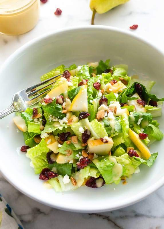 Cranberry Pear Salad with Fresh Pear Vinaigrette