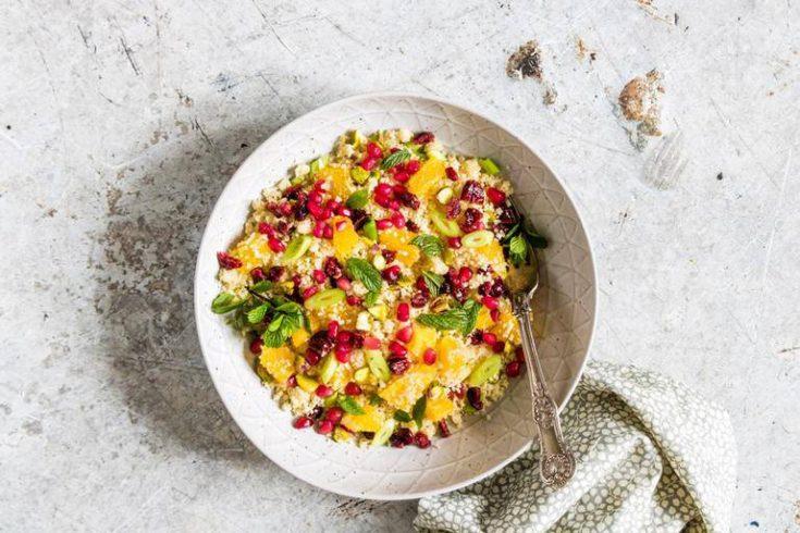Pistachio Pomegranate Couscous Salad Recipe