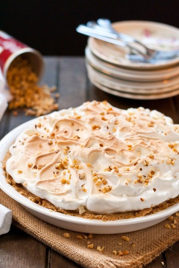 No Bake Peanut Butter Meringue Pie