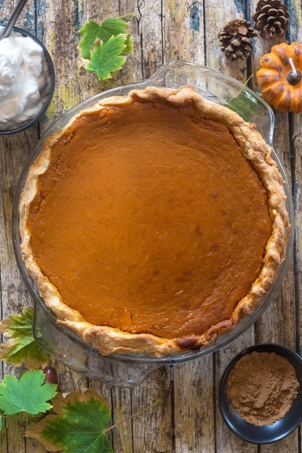 Homemade Pumpkin Pie with Maple Whipped Cream