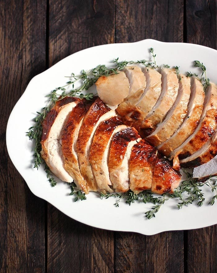 Roasting a Turkey for Two: Turkey Breast with an Apple Cider Brine