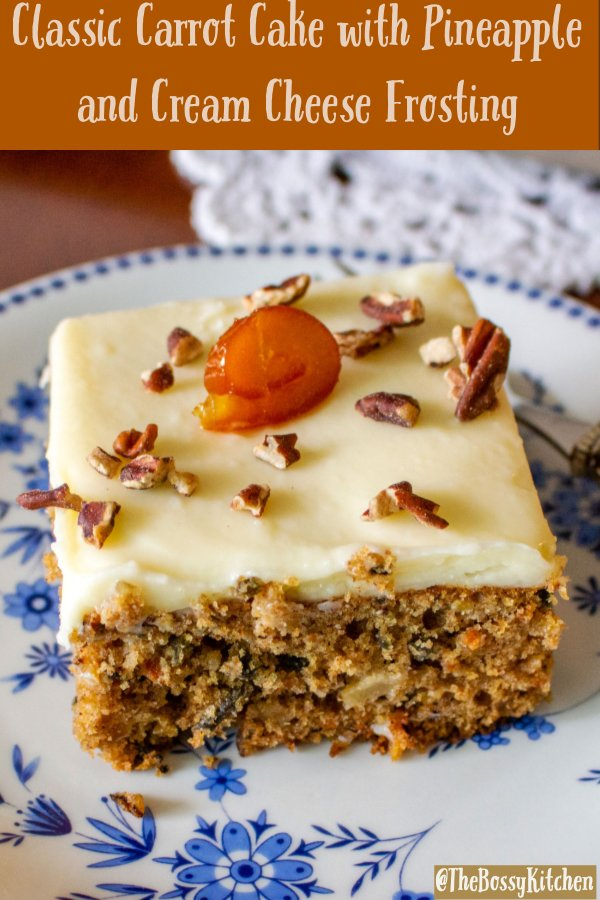 Classic Carrot Cake with Pineapple and Cream Cheese Frosting
