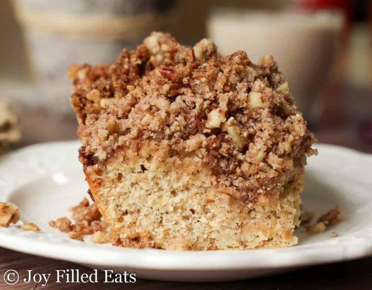 Cinnamon Pecan Crumb Cake – Low Carb, Keto, GF, THM S