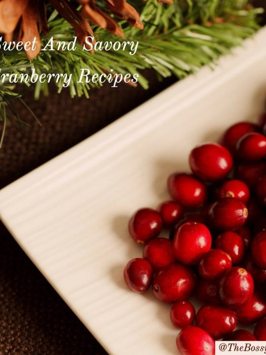 Sweet And Savory Cranberry Recipes 1