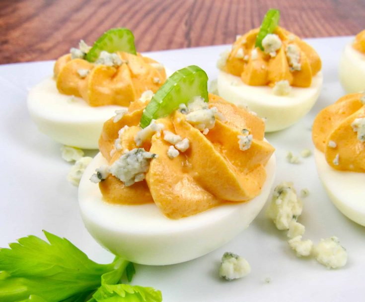 Buffalo Deviled Eggs - Keto and Low Carb