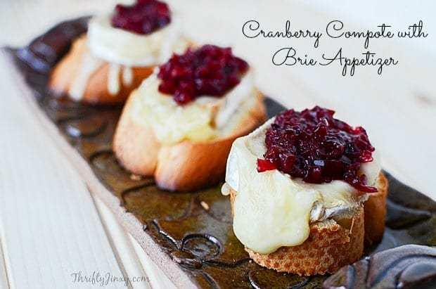 Cranberry Compote with Brie Appetizer Recipe