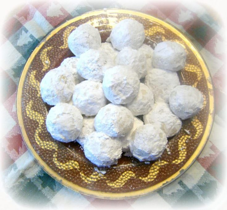 Pfeffernusse Spiced Snowball Cookies