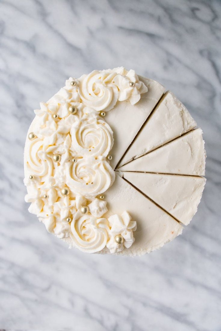 Pop it like its cork! | Champagne Vanilla Bean Cake