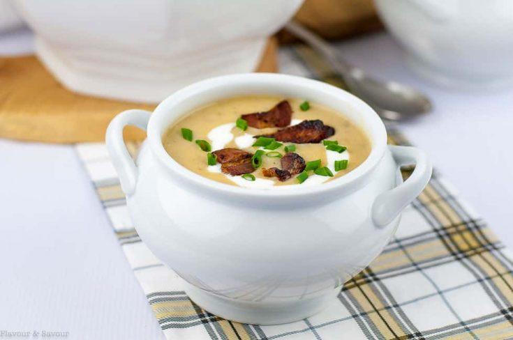 Instant Pot Potato Leek Soup with Bacon - Flavour and Savour