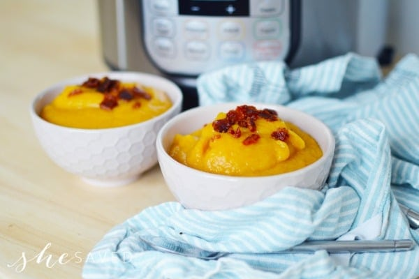 Instant Pot Recipe: Sweet Potato Soup with Leeks and Bacon