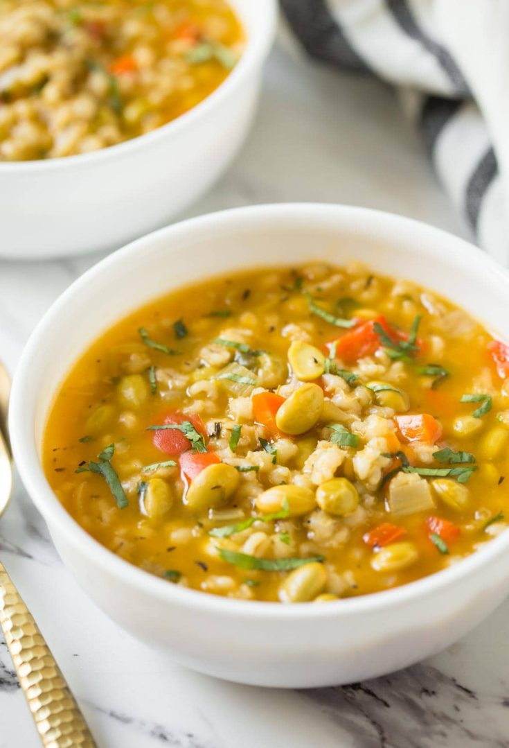 Nutricious Instant Pot Vegetable Barley Soup