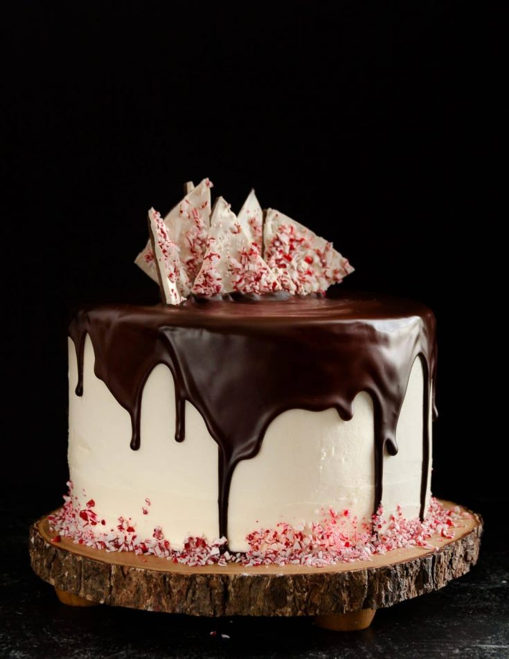 Peppermint Bark Cake