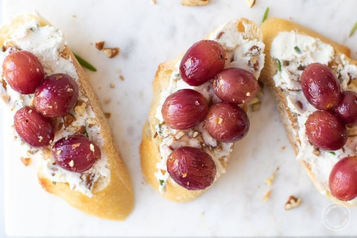 Roasted Grape and Goat Cheese Toast