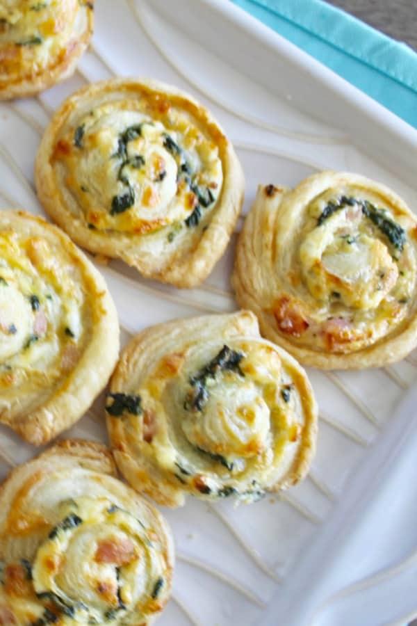 Puff Pastry Ham Pinwheels
