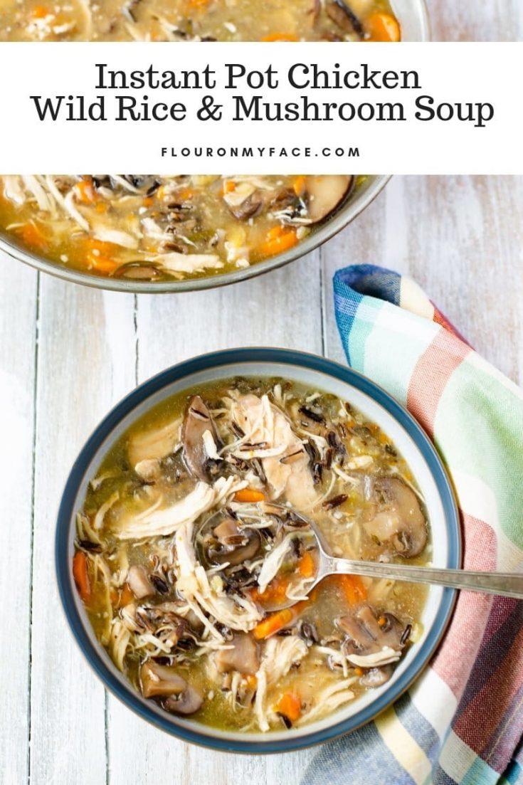Instant Pot Chicken Wild Rice Mushroom Soup