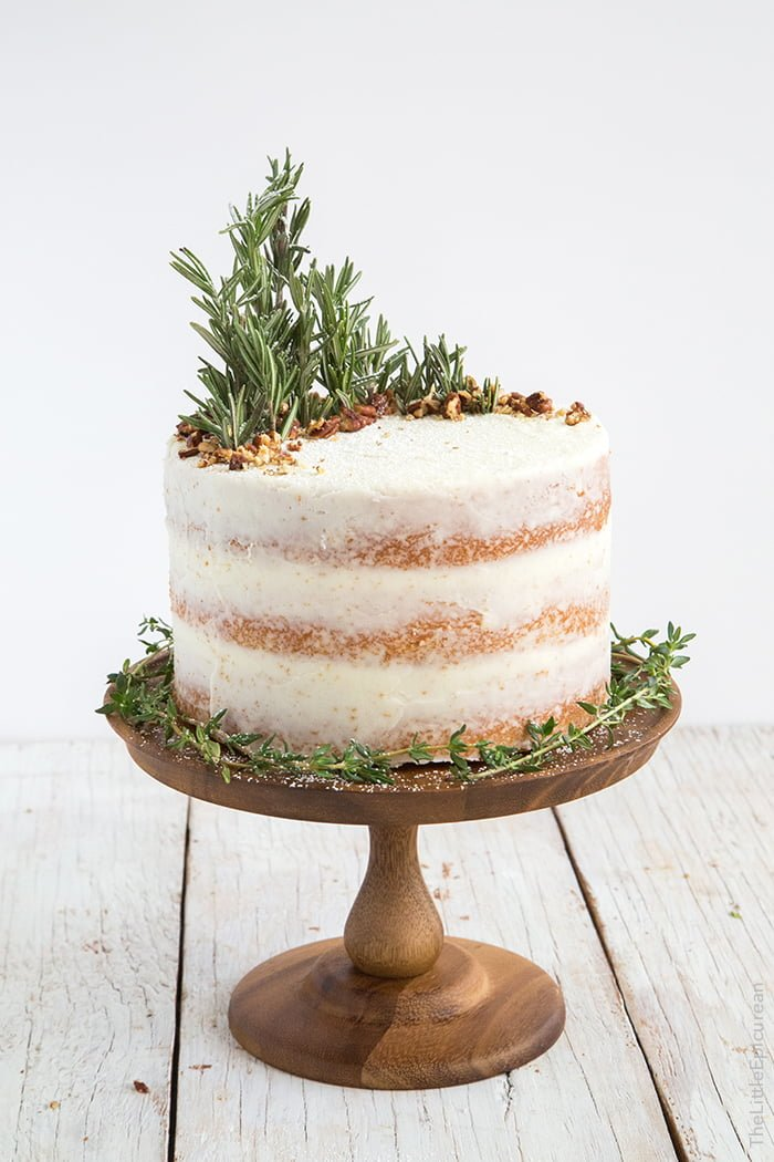 Rosemary Lemon Cake -The Little Epicurean