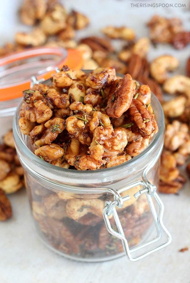 Savory Rosemary Spiced Nuts