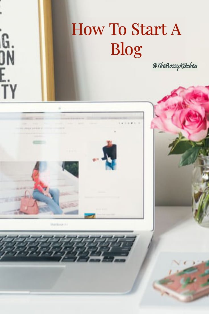 How to start a blog square Pinterest