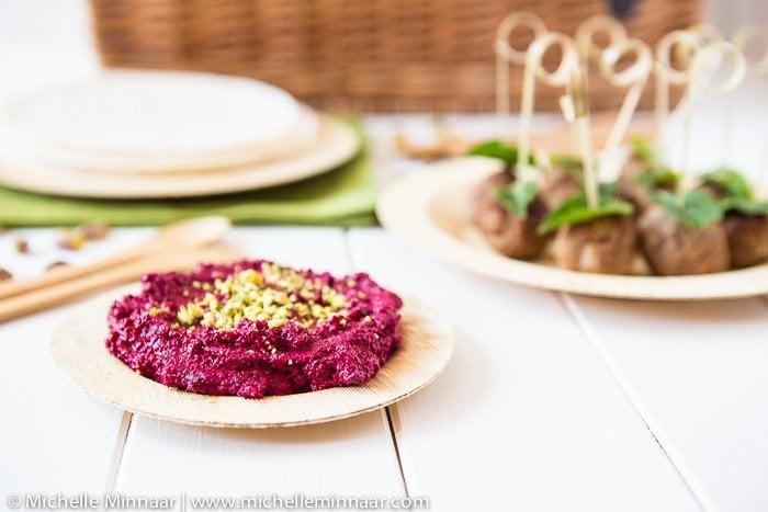 Roasted Beetroot & Pistachio Dip - Greedy Gourmet | Food & Travel Blog