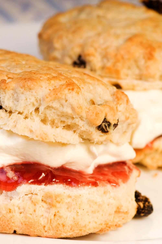 Easy delicious British style scones close up