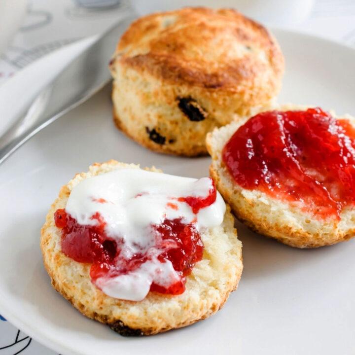 Easy delicious British style scones square