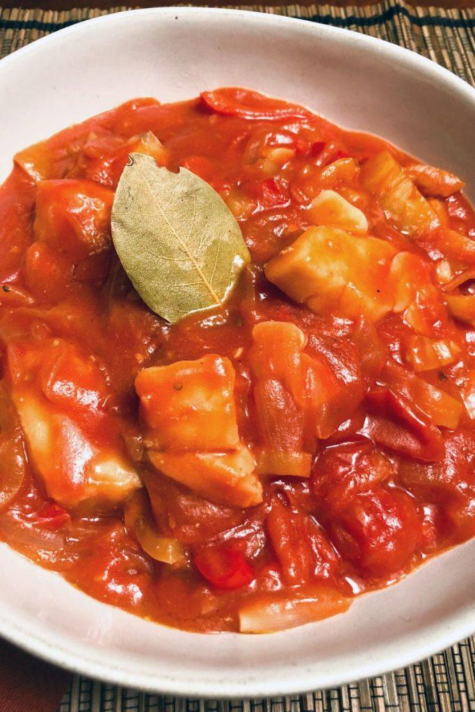 Cod Fish In Tomato Sauce A Spanish Favorite0