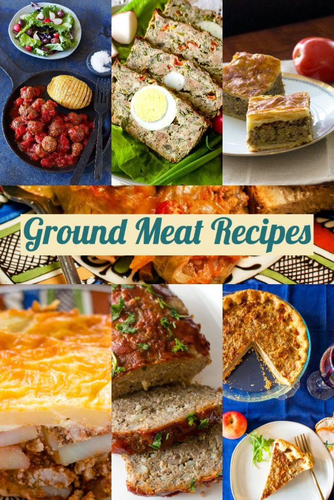 Ground Meat Recipes- featured picture for Pinterest