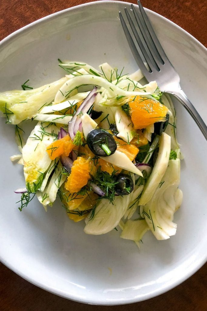Spanish Orange And Fennel Salad- overhead picture
