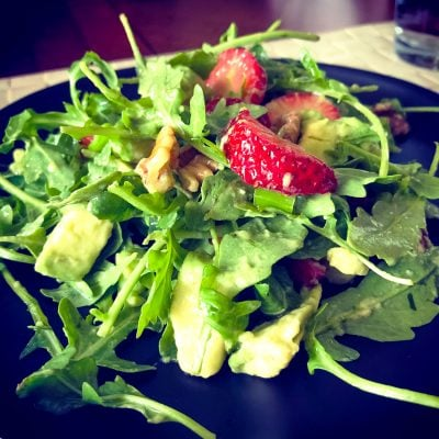 Strawberry Arugula Salad With Pecans And Avocado