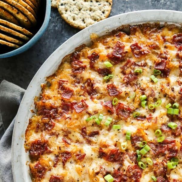 Reuben Dip • hot reuben dip recipe • a farmgirl's dabbles