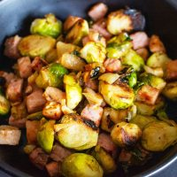Cast Iron Brussels Sprouts With Ham33