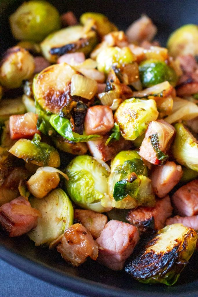 Cast Iron Brussels Sprouts with Ham55