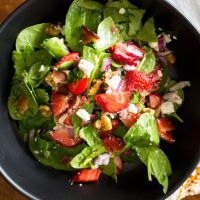 Spinach Strawberry Salad With Walnuts And Feta66