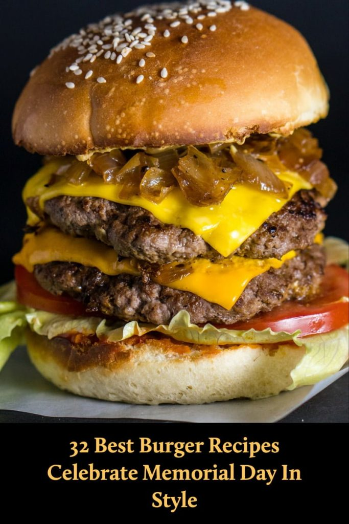 Double cheese burger- featured picture for Pinterest