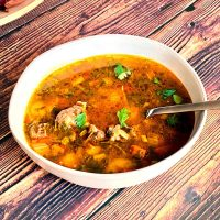 Instant Pot Beef Vegetable Soup- featured picture