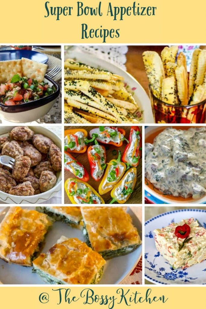 Super Bowl Appetizer Recipes- featured picture for Pinterest