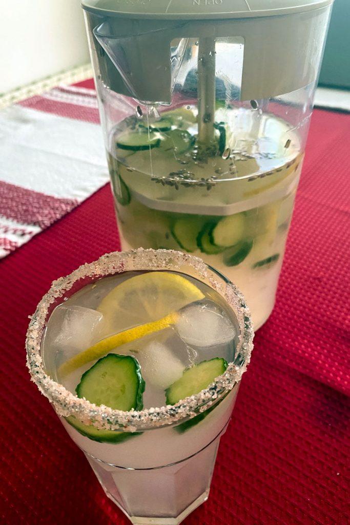 Cucumber Ginger Lavender Lemonade