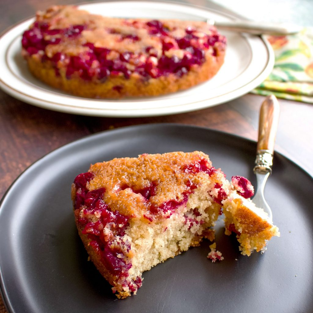 cranberry upside down cake- square picture