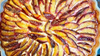 Plum tart baked square picture of the tart1