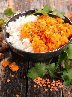 Dal Bhat (lentils and rice)