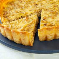 Caramelized onion tart square photo0